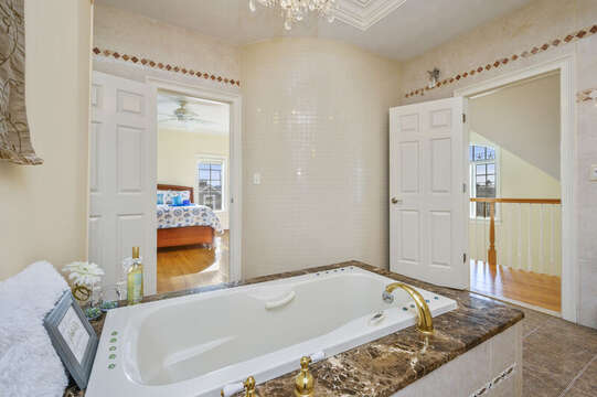 Main Bath with jack and Jill entry - either from hall or master-306 Millway Barnstable Cape Cod New England Vacation Rentals