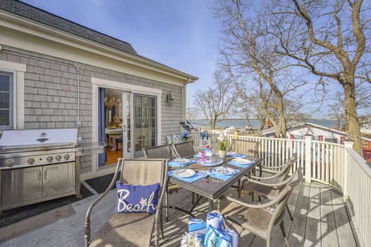 Deck with beautiful views of Millway Beach -306 Millway Barnstable Cape Cod New England Vacation Rentals
