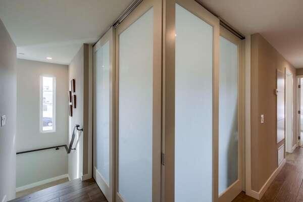 Pocket Doors for Bunk Room - Second Floor
