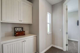 Upstairs linen closet