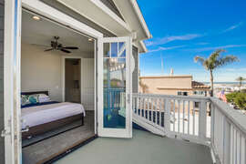 Guest Bedroom with deck overlooking front of the home