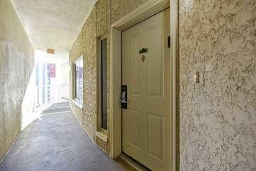 front door of condo
