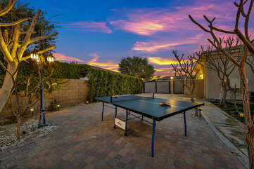 Are you watching the ping pong tournament or the beautiful sunset?