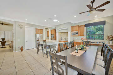 Dinning room for TEN, plus more at the countertop!
