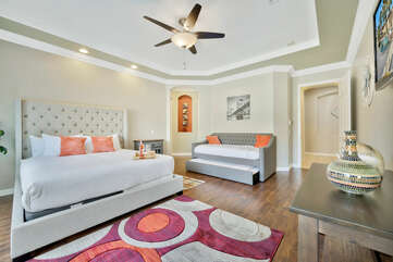 The Master Suite is the first bedroom located off the hallway, sure to impress.