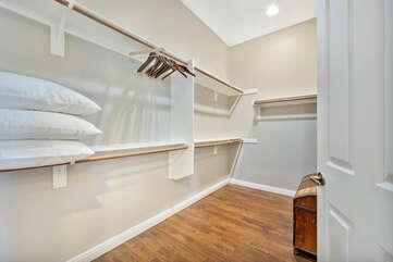 Large walk-in closet inside Master Suite.
