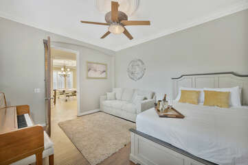 Located across the Gameroom is Bedroom 4, featuring  a Queen-sized bed and Queen-Sized Sofa Sleeper.