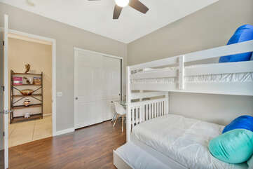 Reach in closet and desk; the perfect place to write a postcard recommending Vacay Stay to all your friends and family!