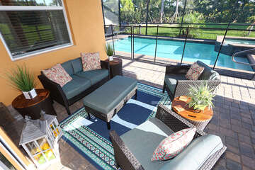 Lounge area and pool
