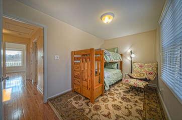 Top Floor Bedroom with bunk beds