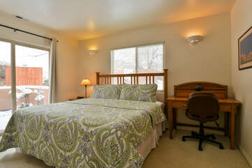 Master Bedroom with Desk at Moab Best Places to Stay