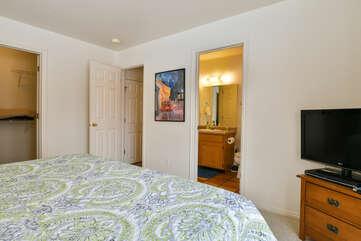 Master Bedroom with TV at Moab Best Places to Stay