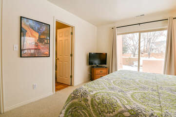 Master Bedroom with Walk Out Patio