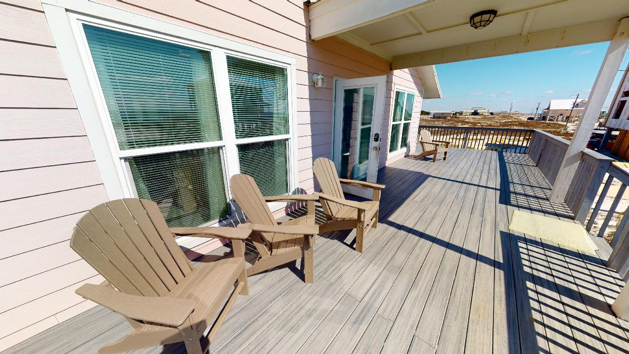 Plenty of seating on the large deck