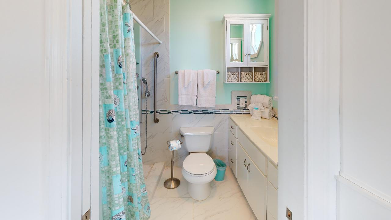 Master bathroom with spa shower