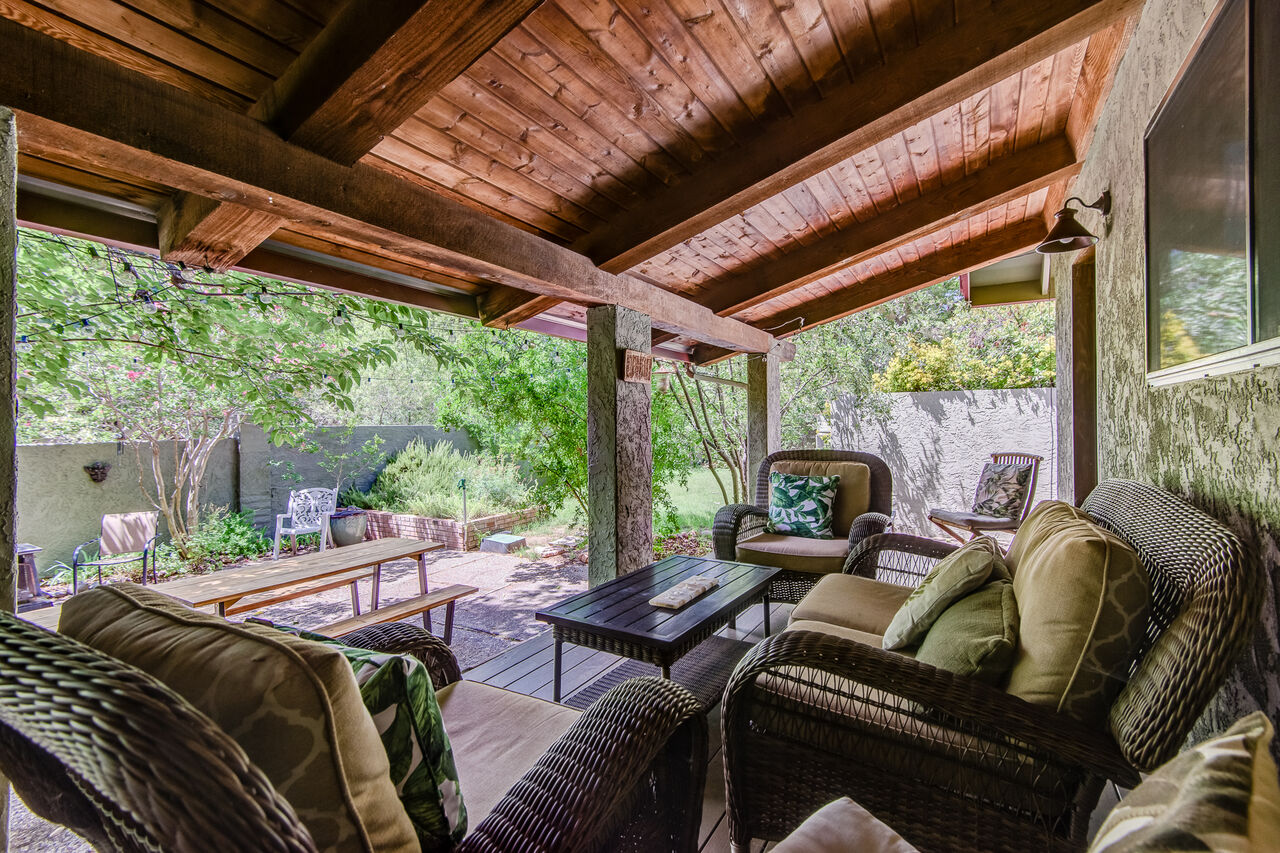 Relax on the Covered Patio