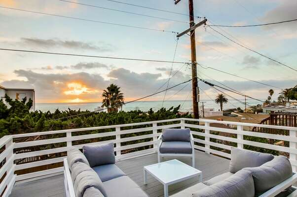 Ocean View Balcony with Outdoor Sofa and Arm Chair.