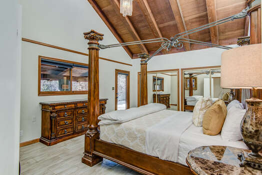 Master Bedroom with a King Bed and Private Bath