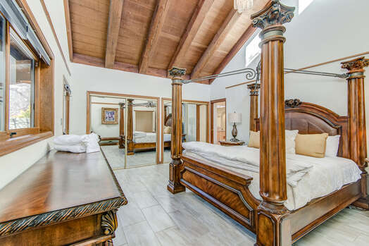 Master Bedroom with High Ceilings