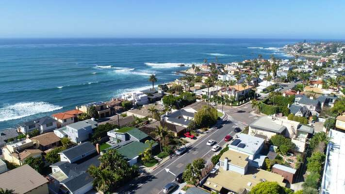 Aerial Image of La Jolla Neighborhood.