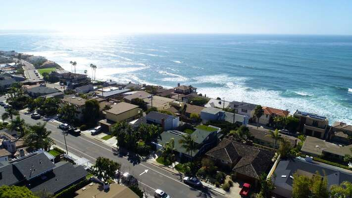 Aerial Image of our Rental Location and La Jolla Neighborhood.