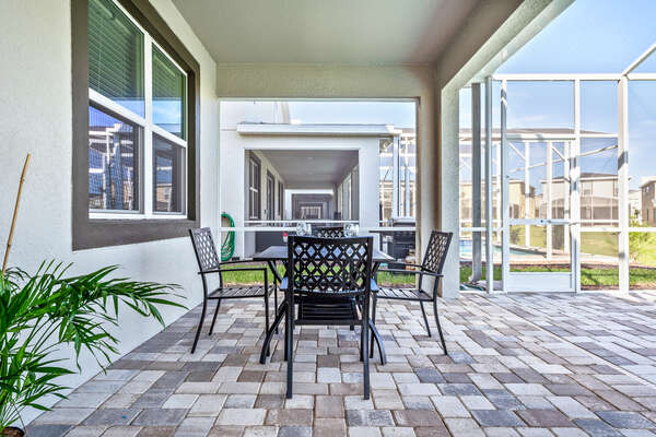 Spend your day in the screened in outdoor patio