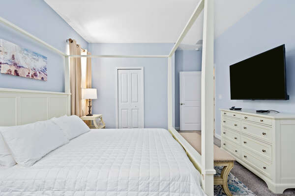 Unpack then unwind in this king-size bed