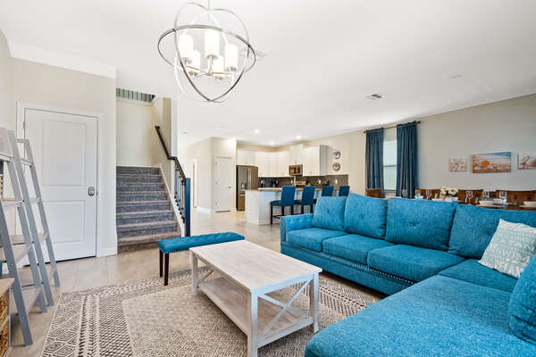 The open floor plan will have you feeling closer to your family
