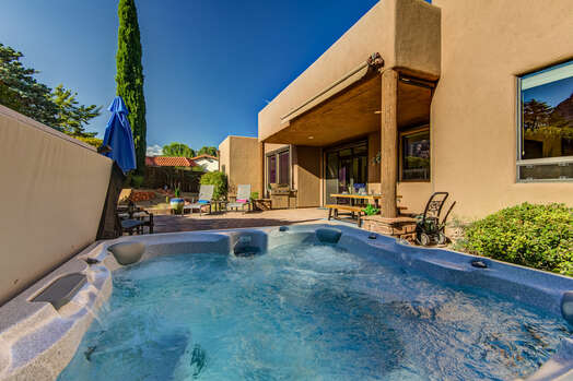 Large Private Yard with a Soothing Hot Tub