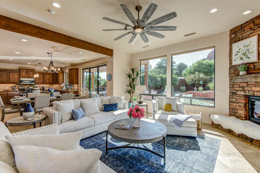 Completely Remodeled Home with Plenty of Natural Light and Red Rock Views