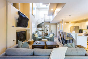 High ceilings and tons of natural light