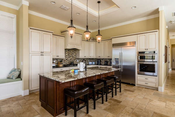 Prepare delicious meals in the beautifully designed fully equipped kitchen