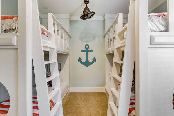 The nautical theme will have kids feeling like a captain of the ship