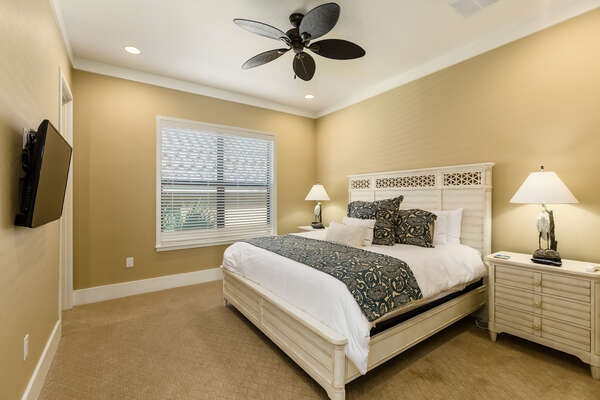 Retreat back to this upstairs suite with a king size bed