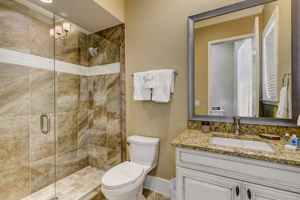 Ensuite bathroom with a walk-in shower