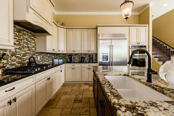 The chefs of the home will love this kitchen with stainless steel appliances