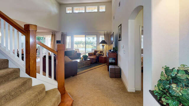 Entry into the Home opens to the Living Area