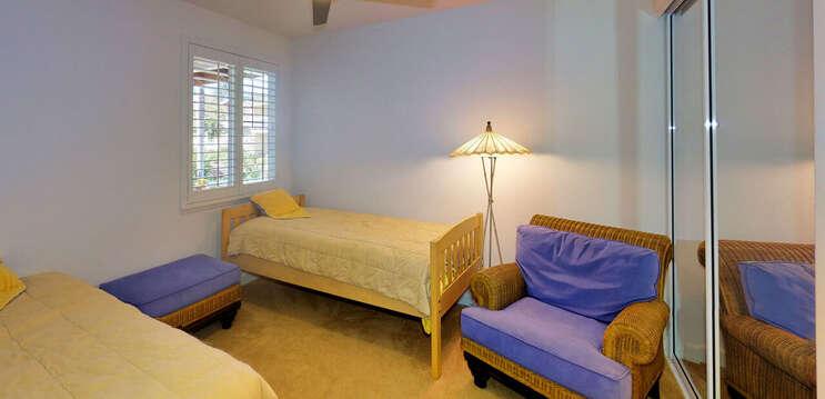 Twin Beds in the Ground Floor Bedroom