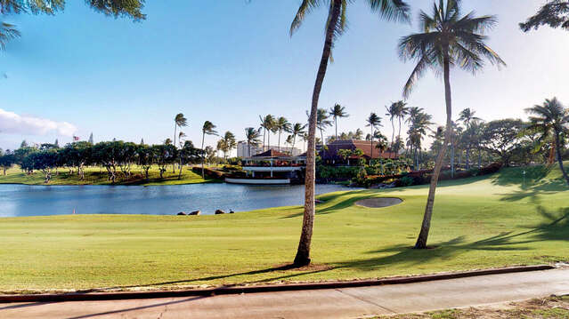 A View of Roy's Ko Olina and the 18th Green from your Lanai