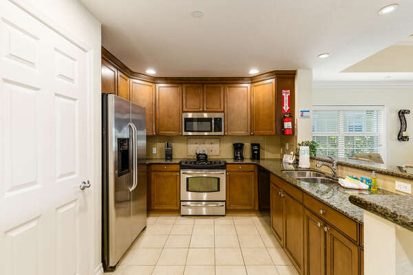 Plenty of space for preparing delicious meals