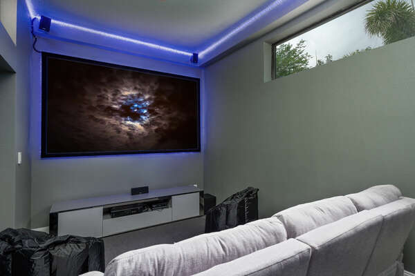 Movie room with Playstation 4