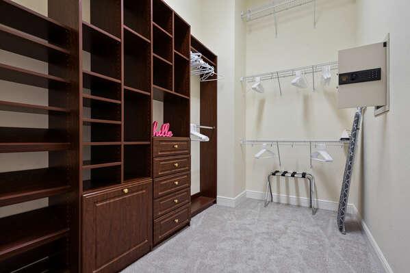 Downstais Master Bedroom Walk In Closet