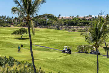 View of the fairway from your lanai
