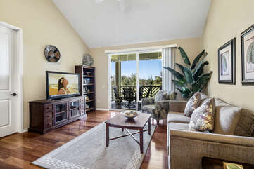 Living area offers direct lanai access