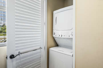Convenience of an in-unit washer and dryer