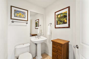 Powder room on the main level
