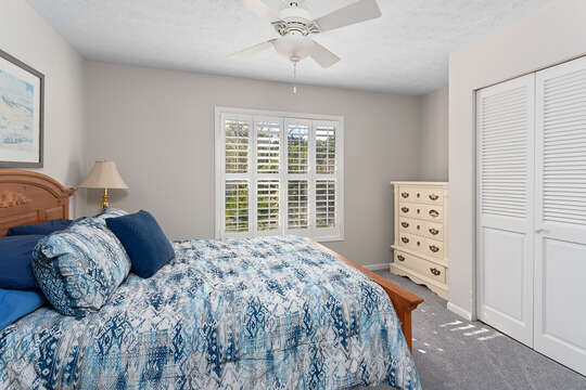 Bedroom with Queen Bed and dresser