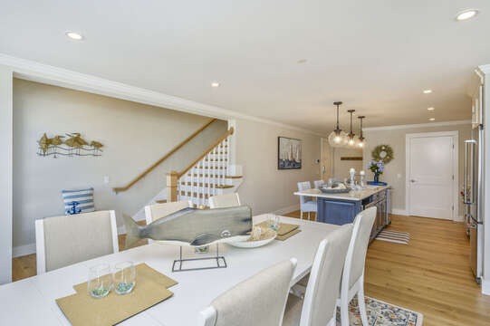 Open Concept dining area that looks into the kitchen seats 6. Unit 201,  557 Route 28 Harwich Port,Cape Cod, New England Vacation Rentals