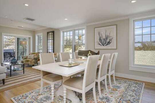 Dining area with seating for 6. Unit 201, 557 Route 28 Harwich Port, Cape Cod, New England Vacation Rentals