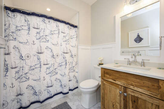 Bathroom 2 across the hall. Unit 201,  557 Route 28 Harwich Port, Cape Cod, New England Vacation Rentals
